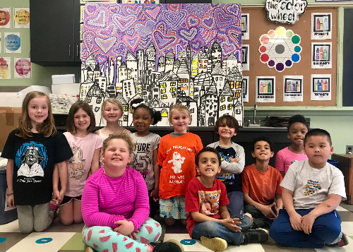 CRS artists with their painting
