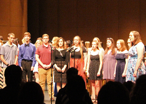 Music was provided by C-C Concert Choir.