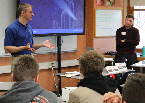 IT professionals from RIT, Wegmans and Stark & Wayne shared stories about job opportunities in computer science.