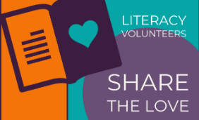 Literacy Volunteers Share the Love Graphic