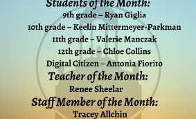 crop of April Students of the Month graphic