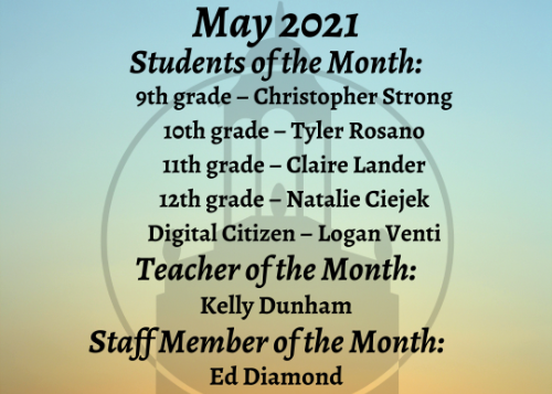 May Students of the Month graphic
