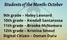 Featured student names and grades