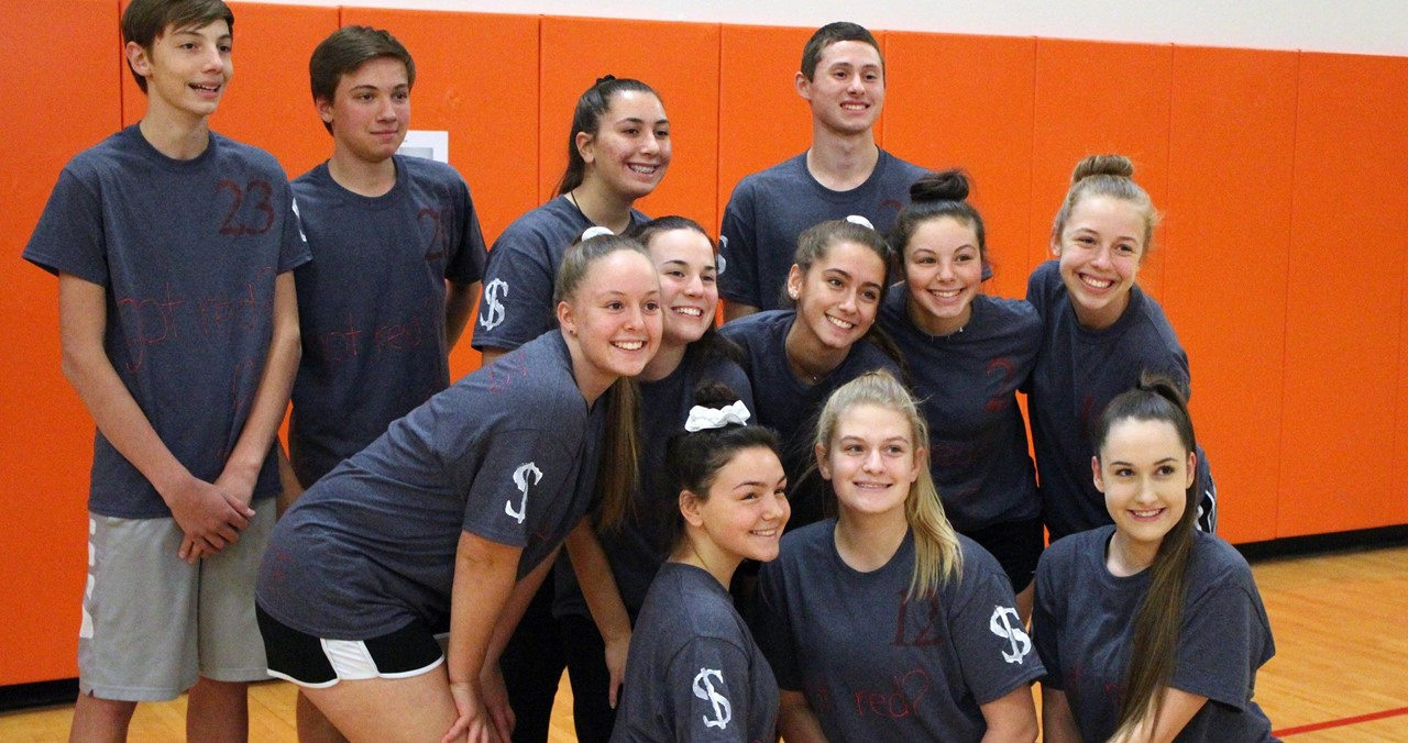 Red Ribbon Volleyball team.