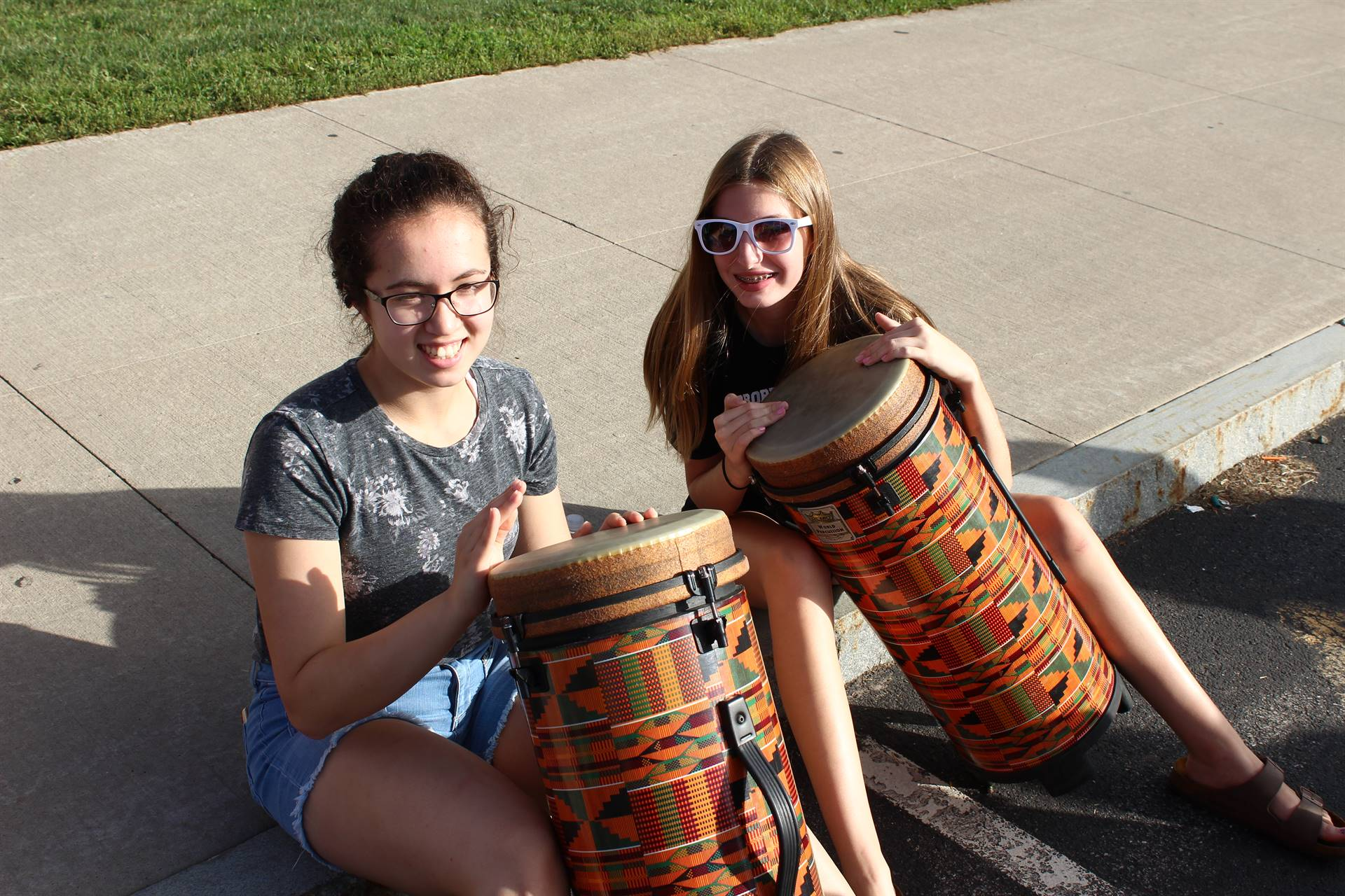 Two students with drums.