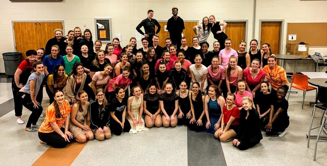 Group photo from the high school dance recital