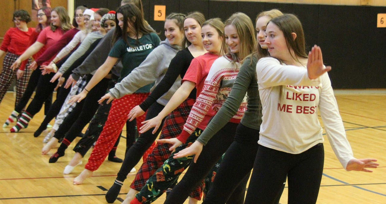 High school dancers perform at CES